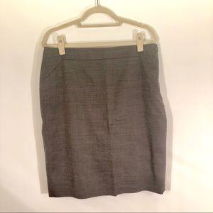 Ann Taylor grey suit skirt